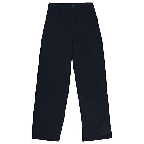 (French Toast Boys' Big Relaxed Fit Pull-on Twill Pant, Navy, 10)