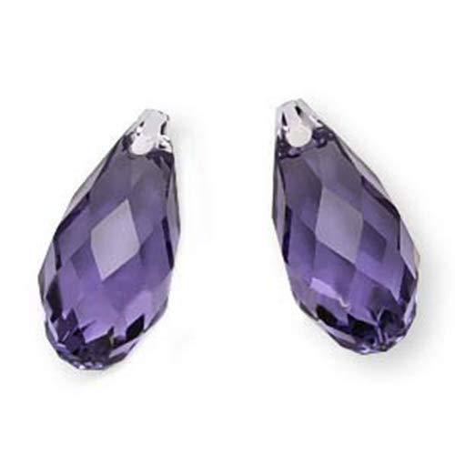 SWAROVSKI ELEMENTS Crystal Briolette Beads #6010 13x6.5mm Tanzanite -