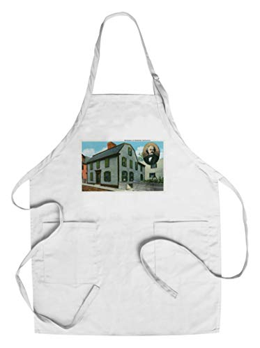Salem, Massachusetts - Exterior View of Nathaniel Hawthorne's Birthplace (Cotton/Polyester Chef's Apron) ()