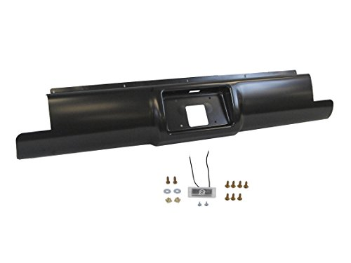New Rear Bumper Roll Pan With Light For 1988-1998 Chevy Gmc C/K Pickup (Stepside Bed - Rear Pan Roll Bumper