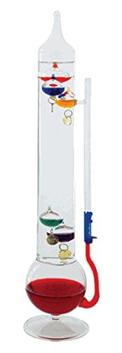 Ambient Weather WS-TB1071305 Galileo Thermometer and Glass Fluid Barometer, 13