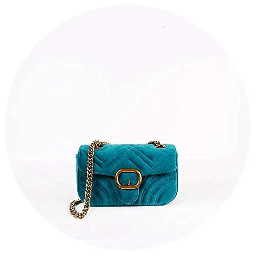 Velour flap bag women velvet quilted cross body bag fashion messenger handbag,velvet ()