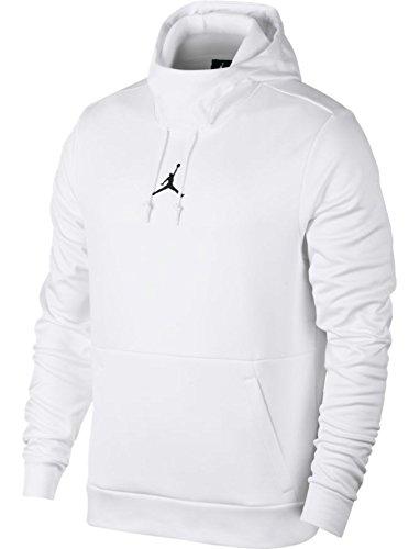 Jordan Men's Therma 23 Alpha Training Pullover Hoodie - White/Black - 861559-100 - SZ. X-Small by Jordan