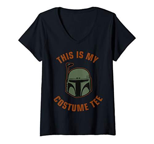 Womens Star Wars Boba Fett Costume V-Neck T-Shirt -