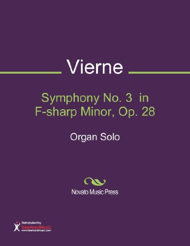 Symphony No. 3  in F-sharp Minor, Op. 28 Sheet Music (Organ Solo)