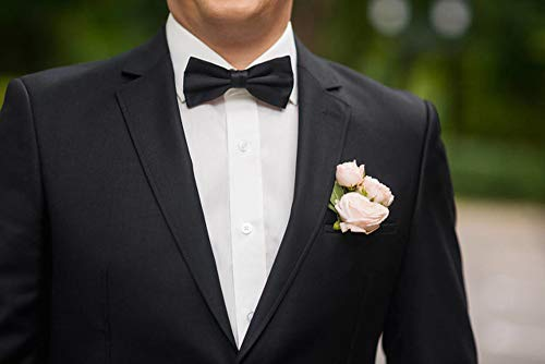 b9c86fe6cf73 ... AVANTMEN Men's Bowties Formal Satin Solid - 12 Pack Bow Ties Pre-tied  Adjustable Ties ...