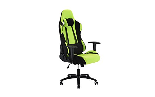 31CDX2 FjML - Computer-Gaming-Chair-Office-High-Back-Fabric-Swivel-Computer-Chair-With-Lumbar-Support-and-Headrest-Green
