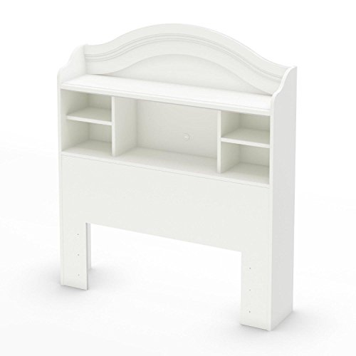 South Shore Savannah Twin Bookcase Headboard, Pure White ()
