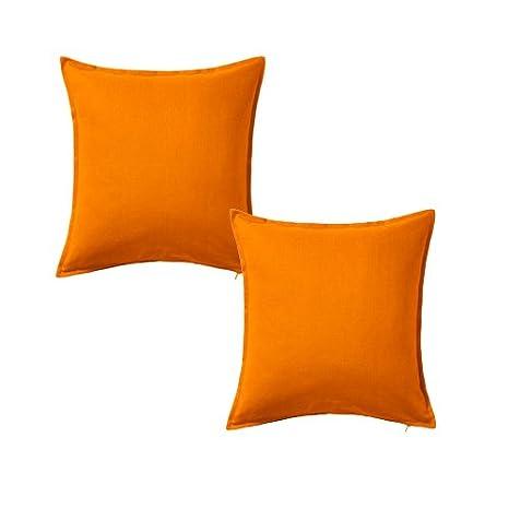 Amazon.com: 2 x IKEA cojín Throw Pillow Cover Orange Gurli ...