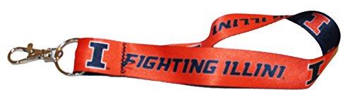 WinCraft University of Illinois Fighting Illini Key Strap Key - Fighting Illini Illinois Key