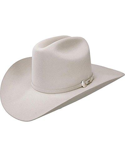 (Resistol Men's 6X Midnight Fur Felt Cowboy Hat Silverbelly 7 1/8 )