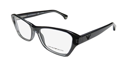 Emporio Armani 3032 Womens/Ladies Cat Eye Full-rim Eyeglasses/Eyeglass Frame (52-16-140, Black)