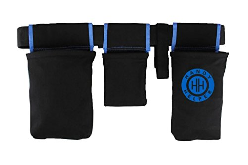 Handy Helper Tool Belt, Organizer, Carrier for Home, Garden, RV - Blue Piping by The Helper Brands