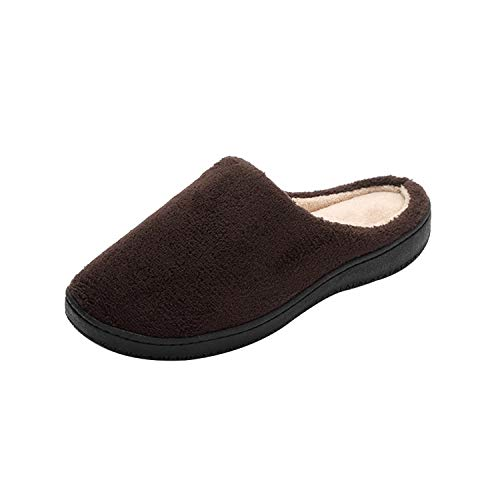 For House Foam Shoes Women's Slip Men Slippers Zando Slippers Indoor Outdoor Memory Warm Coffee On Yq75wn