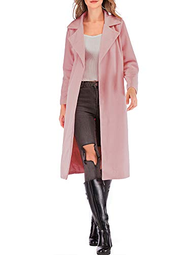 Romacci Women's Coat Long Sleeve Pocket Longline Winter Fall Warm Coat -