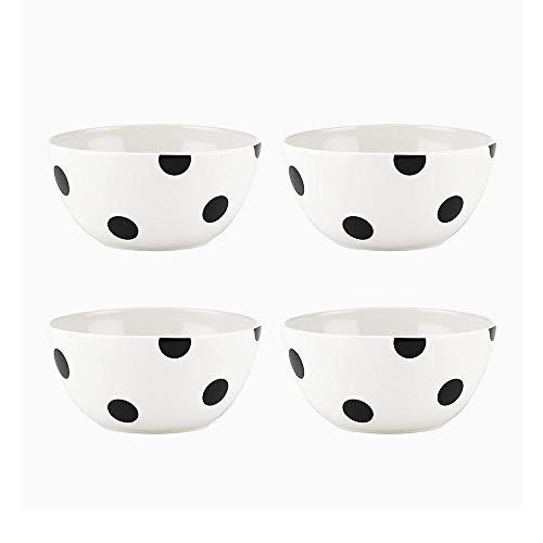Kate Spade New York All in Good Taste Deco Dot Bowl Set, Black