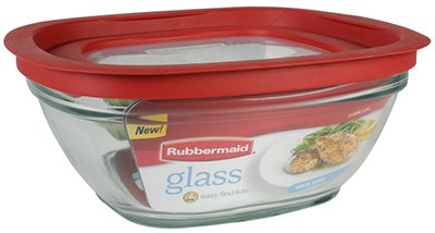 8C GLASS FOOD STORAGE (PACK OF 2)
