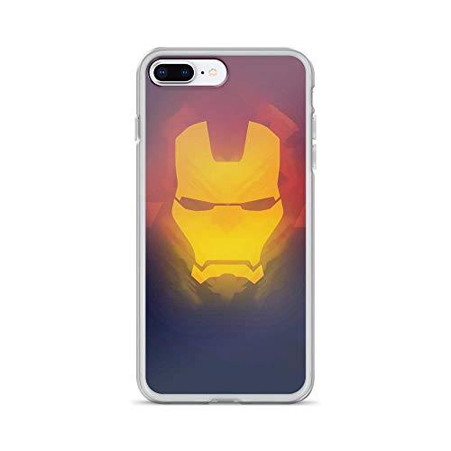 iPhone 7 Plus/8 Plus Pure Clear Anti-Shock Cases Iron-Man Mask Tony-Stark Stan Lee Avengerss Movie Shield Comic Superhero
