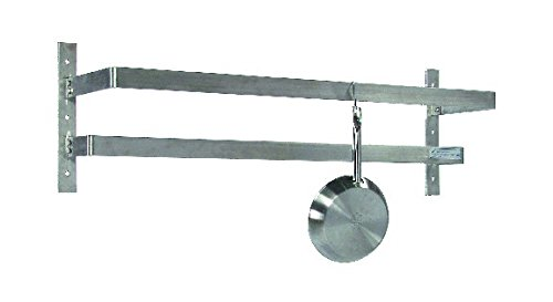 Tarrison WPR60 Stainless Steel Wall Mount Pot Rack with 10 Hooks, 60'' Length x 12'' Height x 10-1/2'' Depth by Tarrison Products