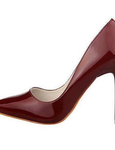 GGX/Damen Pull auf Spikes Absätzen Patent Leder Spitz geschlossen Zehen pumps-shoes pink-us7.5 / eu38 / uk5.5 / cn38