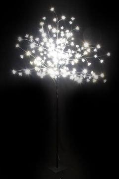 Árbol con iluminación LED lámparas de luz blanca cálida 200 ...