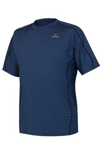 受け入れカテナケージVENEX ( ベネクス ) リカバリーウェア リラックスショートスリーブ メンズ シャツ スモーキーグレー ネイビー (XL, ネイビー)