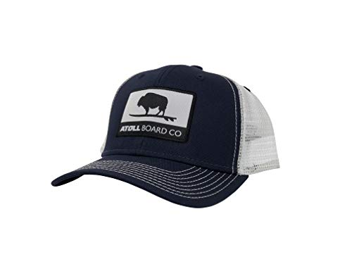 - Atoll Board Company's Best Fitting Mesh Trucker Baseball Hat Atoll ISUP Board Co (Navy/White)