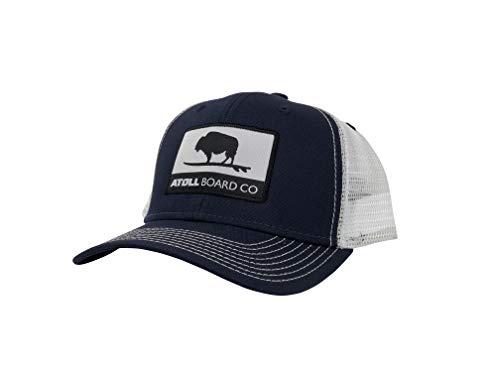 Atoll Board Company's Best Fitting Mesh Trucker Baseball Hat Atoll ISUP Board Co (Navy/White) (Best Fitting Baseball Hats)