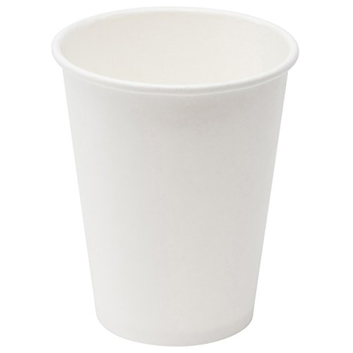 - Simply Deliver 8 oz Paper Hot Cup, Single-Wall, Poly-Coated, White, 1000-Count
