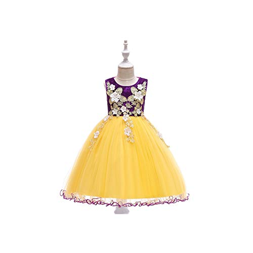 (Girls Embroidery Princess Party Costume Kid Dresses for Girl Girl Dress,Purple1,10T)