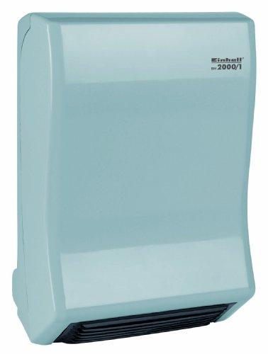 Einhell Bad Heizstrahler BH 2000/1 (2000 Watt, 2 Heizstufen, Gebläsebetrieb, einstellbares Thermostat, Wandhalterung)