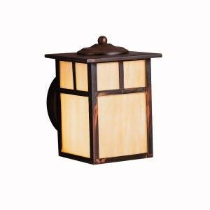 Kichler 9649CV Alameda 1 Light Outdoor Wall Light in Canyon View with Honey Opalescent glass by KICHLER