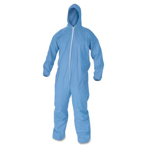 A60 Elastic-Cuff & Back Hooded Coveralls, Blue, XL, 24/Case KCC45024