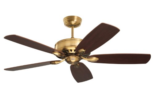 Emerson CF900BBR Prima Energy Star Indoor Ceiling Fan, 52-Inch Blade Span, Burnished Brass Finish and Dark Mahogany/Walnut Blades - Blade Burnished Brass Ceiling Fan