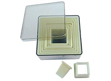 de Buyer Heat-Resistant Pastry Cutters, Square, 9-Piece Set