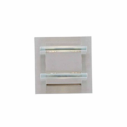 Milan Collection 1 Halogen Bath Light in a Brushed Steel finish