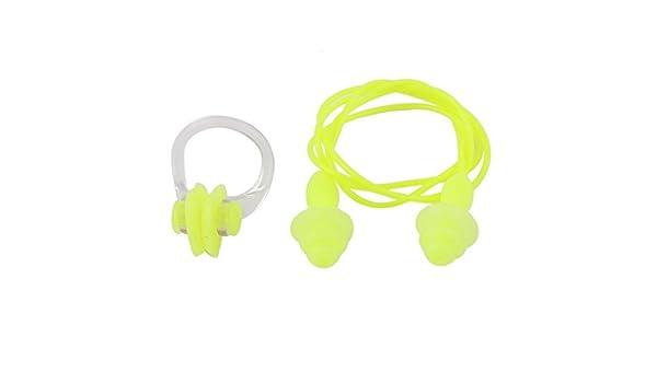 Amazon.com : eDealMax Para deportes acuáticos natación tapones Para Los oídos Clip de la nariz Amarillo claro Set 2 en 1 : Sports & Outdoors