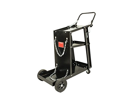 【NEW】ウェルダーカート ボンベカート(溶接機移動運搬用台車)収納機能あり B07F1RPNKL