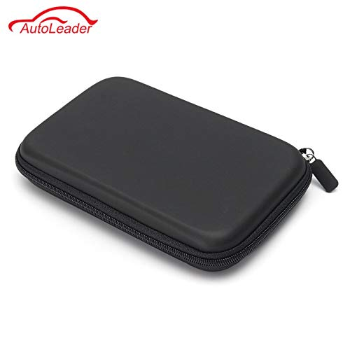 7 Inch Waterproof PU Hard Shell Leather GPS Carry Bag Case Cover Pouch Sat Nav Navigation GPS Holder Storage Protector Bag
