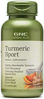 GNC Herbal Plus Turmeric Sport, 60 Capsules