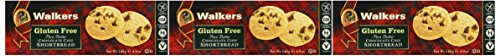 (Walkers Gluten Free Pure Butter Shortbread Bundle of 3 Boxes: Shortbread, Chocolate Chip, Ginger and Lemon)