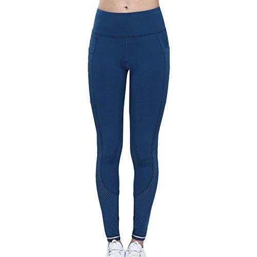 Langmotai Pantalon de yogaPantalon serré taille haute pantalon yoga le mouvement de hanche en marche les petits pieds pantalon, blanc, XL