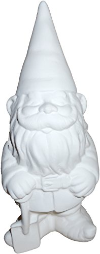 Greg The Garden Gnome - Paint Your Own Gnome-y Ceramic Keepsake Unpainted Ceramic Figures