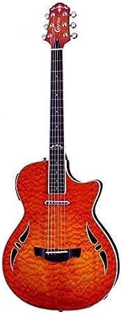 Crafter SA-QMOS - Guitarra semiacústica eléctrica con cuerpo de arco delgado