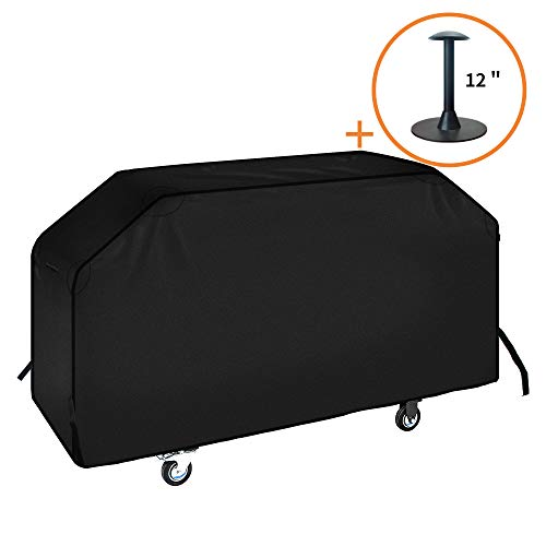 iCOVER 36 inch Griddle Cover, 600D Heavy Duty Waterproof Canvas Flat Top Gas Grill Cover for Blackstone 36″ Griddle Cooking Station Camp Chef 600 Barbecue Cover with Support Pole