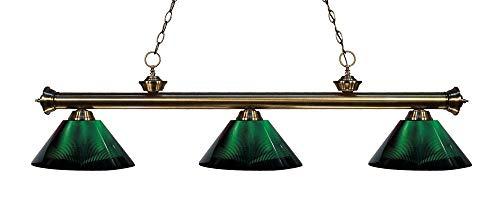 Z-Lite 200-3AB-ARG 3 Billiard Light, Antique Brass