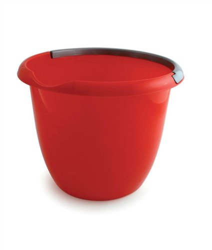 Charles Bentley Plastic Bucket with Pouring Lip 10 Litre Capacity Red