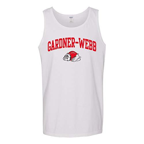 UGP Campus Apparel AT03 - Gardner-Webb Bulldogs Arch Logo Tank TOP - X-Large - White