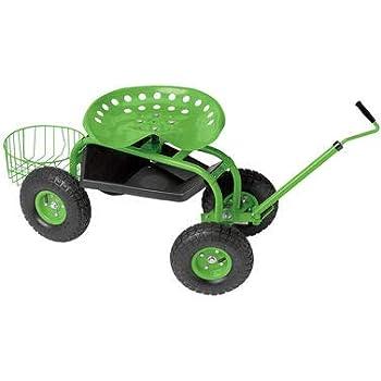 Amazon Com Kinbor Garden Rolling Cart Patio Wagon