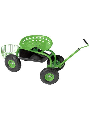 Gardener's Supply Company Deluxe Tractor Scoot with Bucket